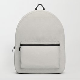 ORIGINAL WHITE pale gray solid color Backpack