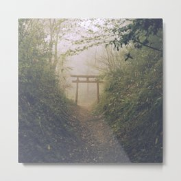 Shrine in Okunoin cemetery of Koyasan, Japan 002 Metal Print