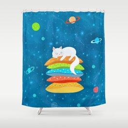 Sleeping Cat - Universe Shower Curtain