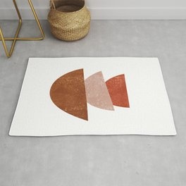 Abstract Bowls 2 - Terracotta Abstract - Modern, Minimal, Contemporary Print - Brown, Beige Rug