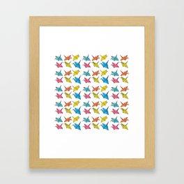 Colourfull paper cranes Framed Art Print