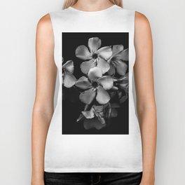 Oleander flowers in black and white Biker Tank