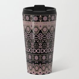 Colorful pink brown ethnic ornament. Travel Mug