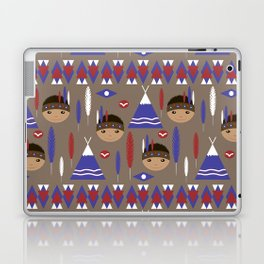 Seamless kids cute American indian native retro background pattern Laptop & iPad Skin