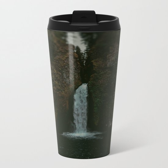 Wahclella Falls x Oregon Waterfall Metal Travel Mug