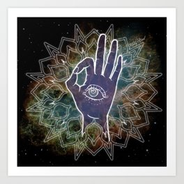 Gyan Mudra Hand Posture Art Print
