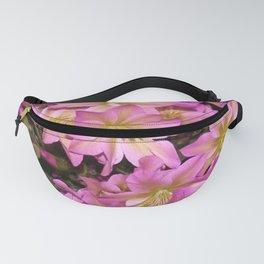 Purple Pink Romantic Flowers Fanny Pack