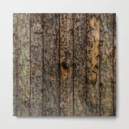 Rough Pine Planks Metal Print