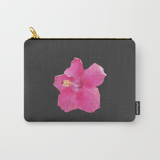 Pink Hawaiian hibiscus Carry-All Pouch