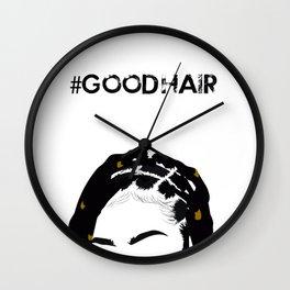 #GOODHAIR  - braids Wall Clock