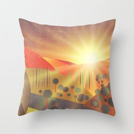 Soleil Levant Throw Pillow