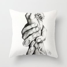The Saving Hands Throw Pillow