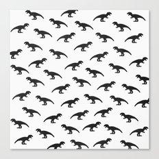 T-Rex Pattern Canvas Print