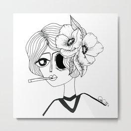Flowers&smoke Metal Print