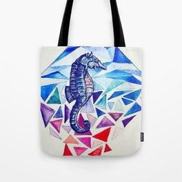 Seahorse on the Ocean floor Tote Bag