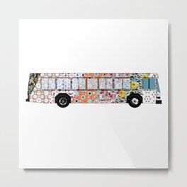 Multi-print Overload - Bus Metal Print