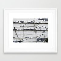 the wire Framed Art Prints featuring Wire  by Ethna Gillespie