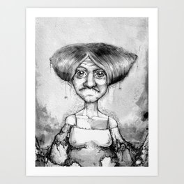 Old Lady Art Print