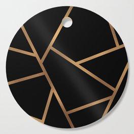 Black and Gold Fragments - Geometric Design Cutting Board