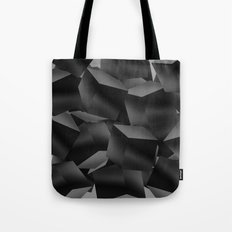 Black Fade Cubes Tote Bag