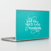 pride and prejudice Laptop & iPad Skins featuring Quote from Pride and Prejudice by Swift Creative