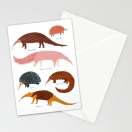 Pangolin, Anteater & Echidna Print Stationery Cards