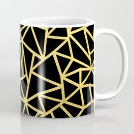 Abstract Outline Thick Gold Coffee Mug
