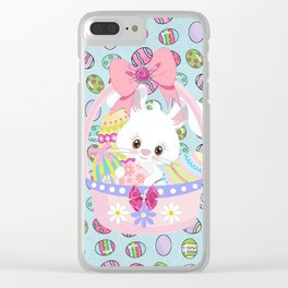 Easter Bunny Easter Basket Clear iPhone Case
