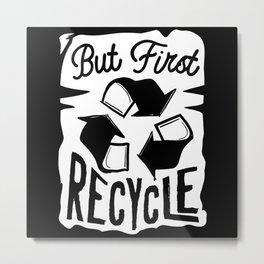 Recycling Environmental Protection Metal Print