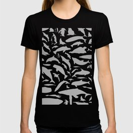 Dolphin a background T-shirt