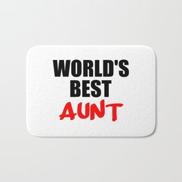 worlds best aunt funny sayings and logos Bath Mat