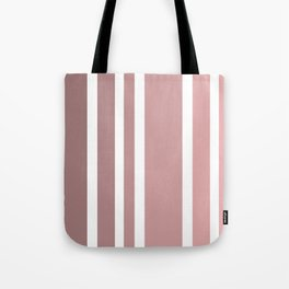 Striped Ombre in Vintage Pink Tote Bag