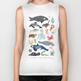 Sea Change: Ocean Animals Biker Tank