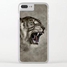 Roaring Liger - Digital Art Clear iPhone Case