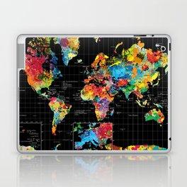 World Map Black - 1 Laptop & iPad Skin