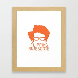 Flipping Awesome Framed Art Print