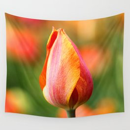 Flaming Tulip Wall Tapestry