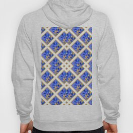 ABSTRACTED BLUE & GOLD PATTERN  CALLA LILIES  DESIGN Hoody
