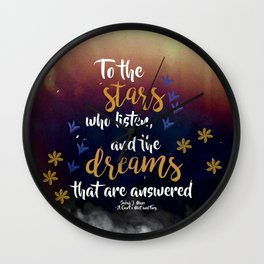 to the stars who listen Wall Clock