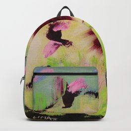 Butterfly Park: Abstract Acrylic Painting of animals Backpack