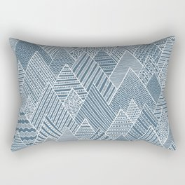 Mountain Pattern Rectangular Pillow