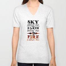 Sky Earth Fire Unisex V-Neck
