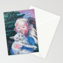 Albino cat Stationery Cards