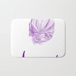 Purple Hair Bath Mat
