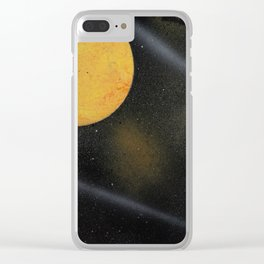 Looking Up - Spray Paint Art Clear iPhone Case