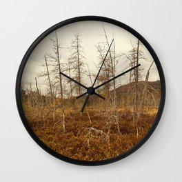 tree in the bog Wall Clock