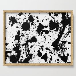 Ink spattered all over - Pattern #society6 #lifestyle Serving Tray