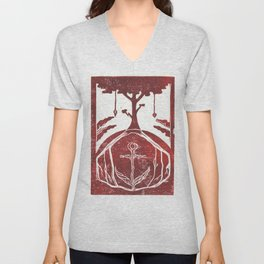 Grounding (White) Unisex V-Neck