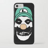 luigi iPhone & iPod Cases featuring Misfit Luigi by cudatron