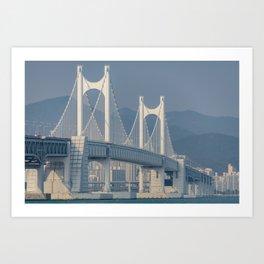 Gwangangdaegyo Suspension Bridge Art Print